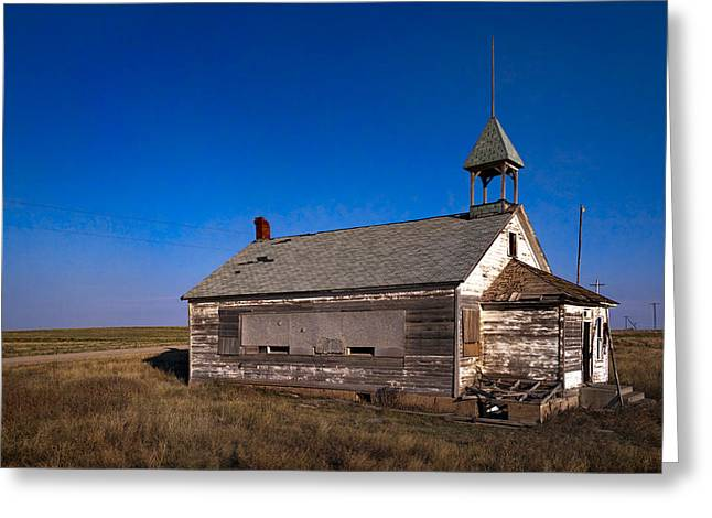 Abandoned School House. Greeting Cards - School House Greeting Card by Grant Groberg