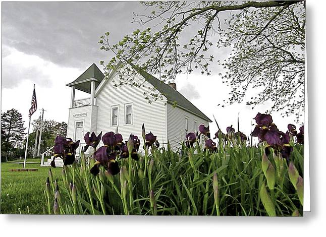 School Houses Photographs Greeting Cards - School House in the Country II Greeting Card by Christine Belt
