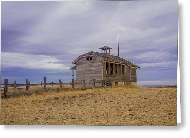 Abandoned School House. Greeting Cards - School House Greeting Card by Jean Noren