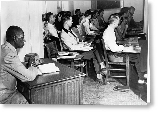 Jim Crow South Greeting Cards - School Segregation, 1948 Greeting Card by Granger
