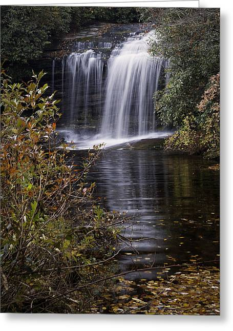 Autumn Prints Photographs Greeting Cards - Schoolhouse Falls Greeting Card by Rob Travis