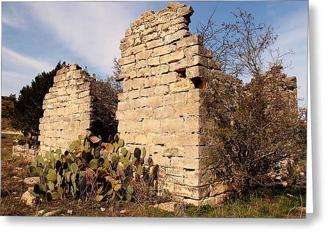 Best Sellers -  - Old Roadway Greeting Cards - Schoolhouse Ruin Greeting Card by Sarah Broadmeadow-Thomas