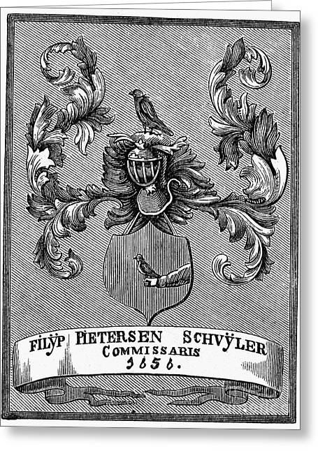 1876 Greeting Cards - Schuyler Family: Arms Greeting Card by Granger