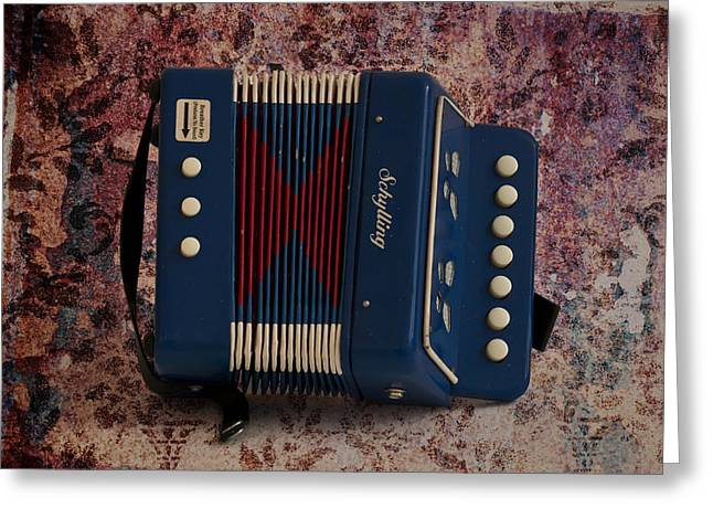 Zydeco Greeting Cards - Schylling Accordion Greeting Card by Bill Cannon