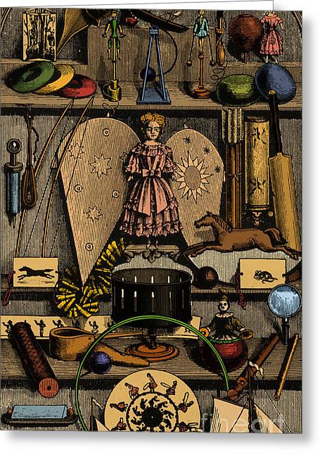 Cricket Bat Greeting Cards - Science In The Nursery, Frontispiece Greeting Card by Photo Researchers