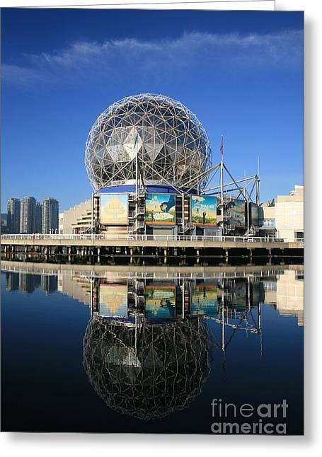 Telus Greeting Cards - Science World Greeting Card by Chris Dutton