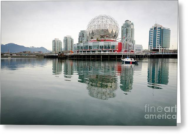 Telus Greeting Cards - SCIENCE WORLD telus world of science vancouver bc canada Greeting Card by Andy Smy