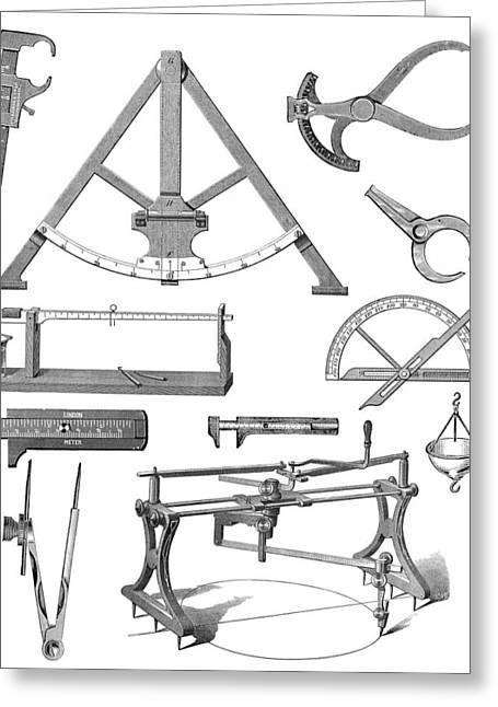 Bevel Greeting Cards - Scientific Equipment, Historical Artwork Greeting Card by Mehau Kulyk
