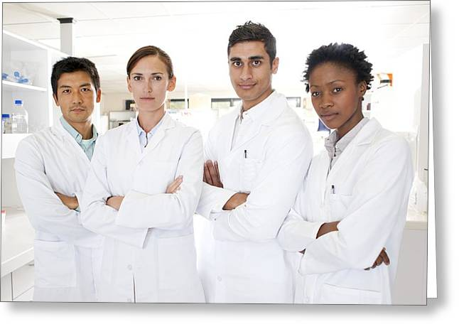 Multi-ethnic Greeting Cards - Scientists Greeting Card by