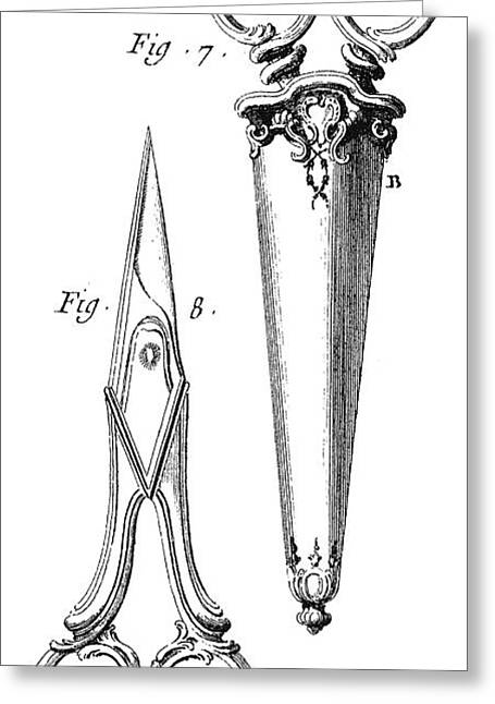 Scissors Greeting Cards - SCISSORS, 18th CENTURY Greeting Card by Granger