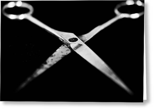 Scissors Greeting Cards - Scissors Greeting Card by Hakon Soreide
