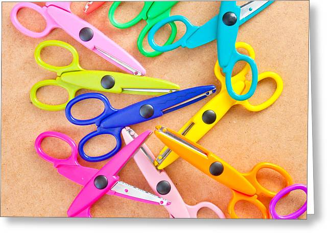 Scissors Greeting Cards - Scissors Greeting Card by Tom Gowanlock
