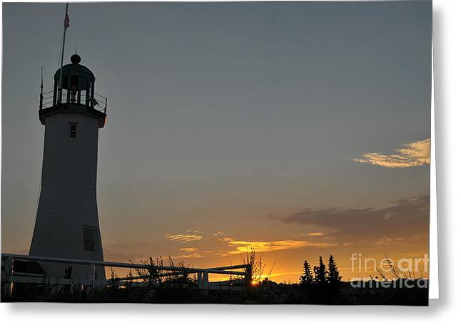 Scituate Light Greeting Card by Catherine Reusch  Daley
