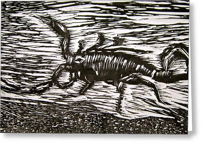 Scorpion Greeting Card by Marita McVeigh