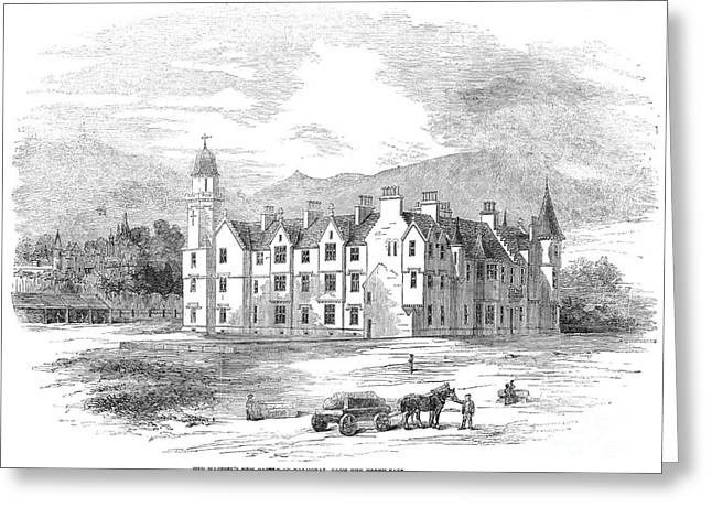 1854 Greeting Cards - Scotland: Balmoral Castle Greeting Card by Granger
