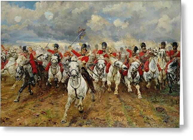 Warfare Greeting Cards - Scotland Forever Greeting Card by Elizabeth Southerden Thompson