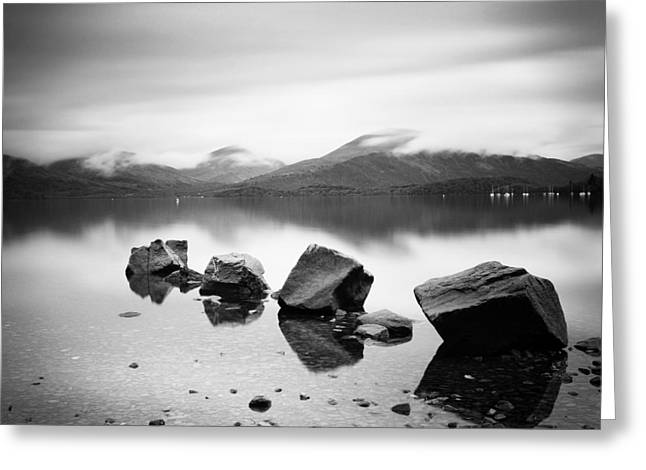 Scotland Greeting Cards - Scotland Lomond Rocks Greeting Card by Nina Papiorek