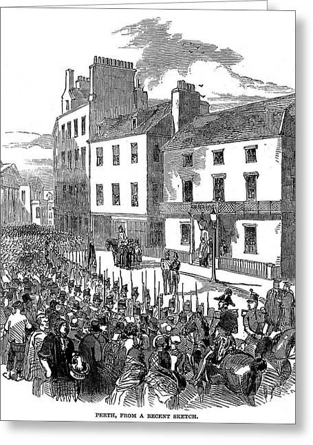 Balmoral Greeting Cards - Scotland: Perth, 1848 Greeting Card by Granger