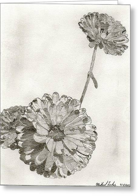 Shading On Flowers Greeting Cards - Scottish Flowers Greeting Card by Michael Lukas