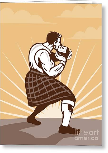 Weights Digital Art Greeting Cards - Scottish Games Greeting Card by Aloysius Patrimonio