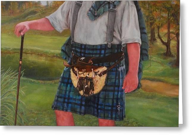 Scottish Golfer Greeting Card by Phyllis Barrett