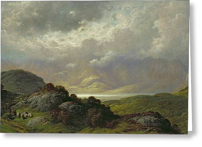 Rugged Greeting Cards - Scottish Landscape Greeting Card by Gustave Dore
