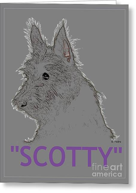 Scotty Art Greeting Cards - Scotty Greeting Card by George Pedro
