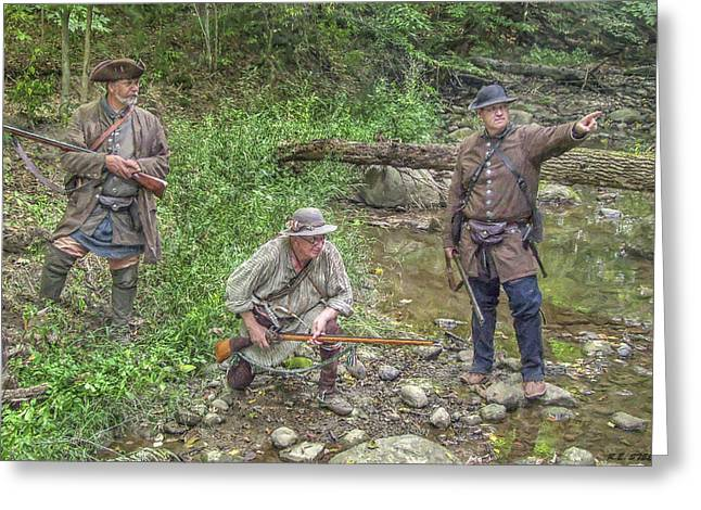 Citizens Greeting Cards - Scouting for sign of the Enemy Greeting Card by Randy Steele