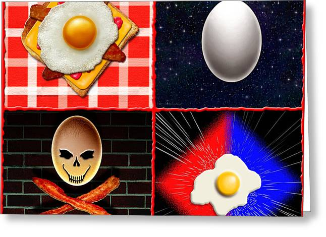 Scramble Egg Greeting Cards - Scrambled Eggs Greeting Card by Cristophers Dream Artistry