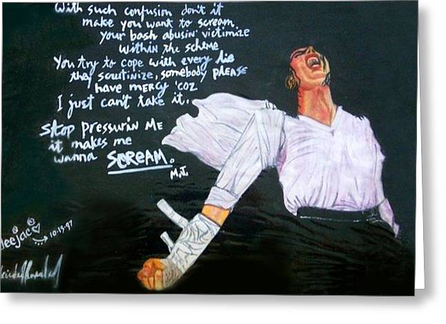 Mj Paintings Greeting Cards - Scream Greeting Card by Dee Conroy