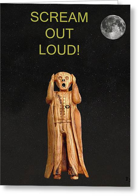 Sit-ins Mixed Media Greeting Cards - Scream Out Loud Greeting Card by Eric Kempson