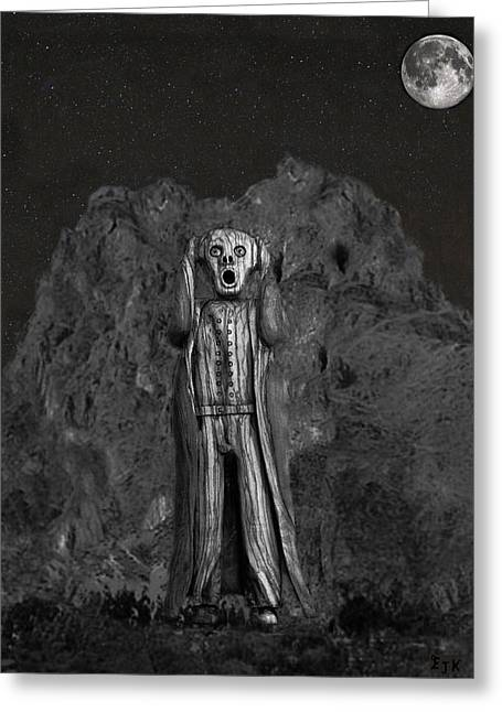 Detroit Legends Greeting Cards - Scream Rock Greeting Card by Eric Kempson
