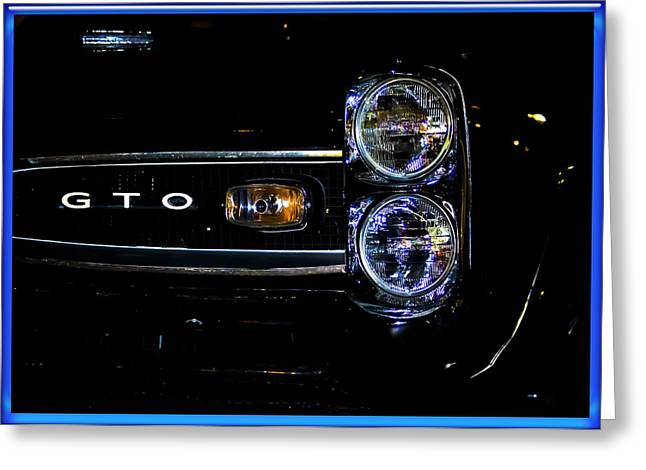 Yellow Black White Silver Greeting Cards - Screamin GTO Greeting Card by DigiArt Diaries by Vicky B Fuller