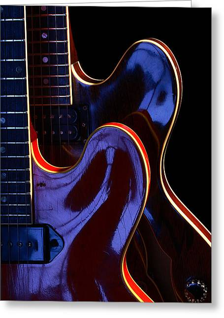 Art Ferrier Greeting Cards - Screaming Guitars Greeting Card by Art Ferrier