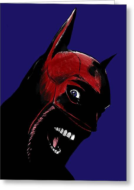 Screaming Superhero Greeting Card by Giuseppe Cristiano