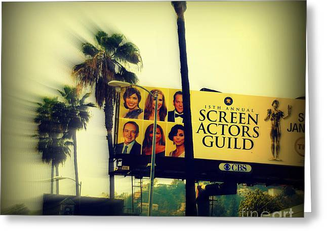 The Hills Greeting Cards - Screen Actors Guild in LA Greeting Card by Susanne Van Hulst