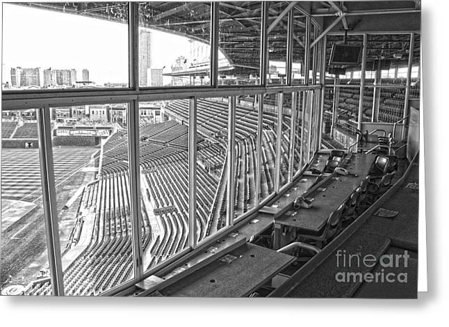 Press Box Greeting Cards - Scribes Roost Greeting Card by David Bearden