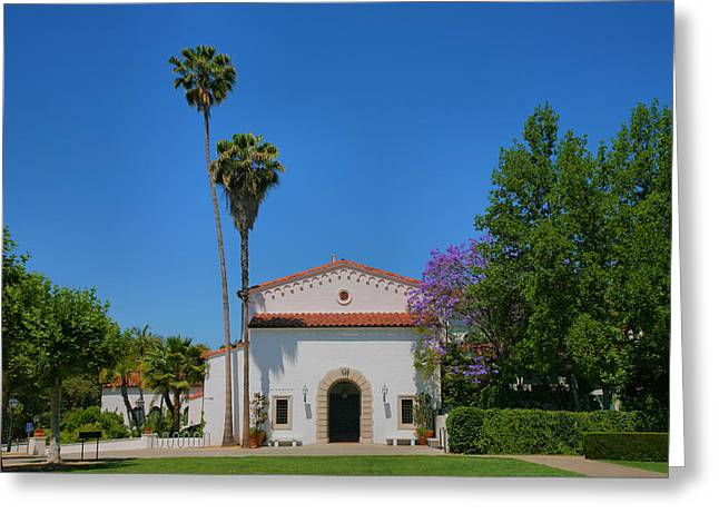 Scripps College Grounds Greeting Card by Steven Ainsworth
