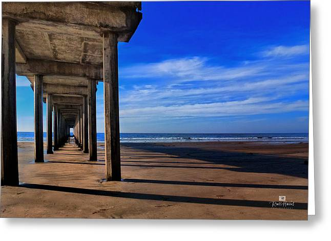 Scripps Pier Late Afternoon Greeting Card by Russ Harris