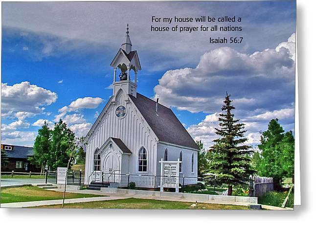 Isaiah Greeting Cards - Scriptue and Picture Isaiah 56 7 Greeting Card by Ken Smith