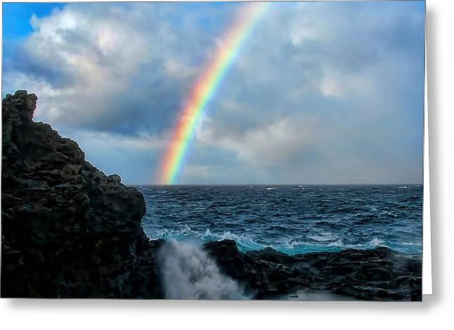 Scripture and Picture Genesis 9 16 Greeting Card by Ken Smith