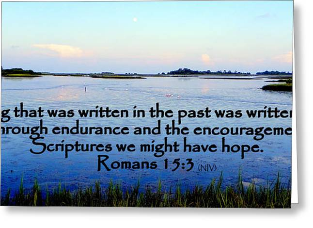 Scripture For Hope Greeting Card by Sheri McLeroy