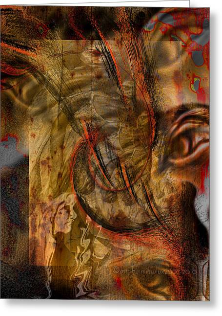 Scrutiny Greeting Cards - Scrutinized Greeting Card by Mimulux patricia no