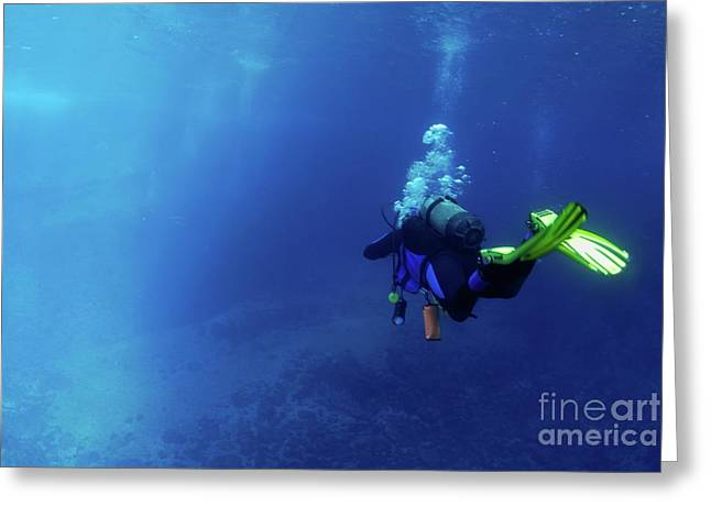 Undersea Photography Greeting Cards - Scuba diving Greeting Card by Sami Sarkis