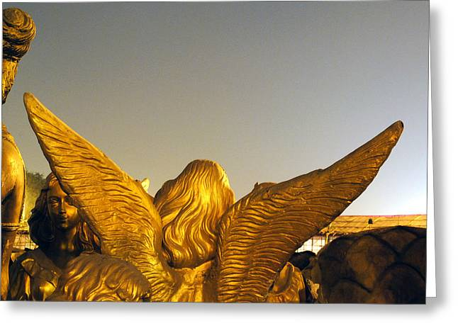 Sculpture Of An Angel Greeting Card by Sumit Mehndiratta