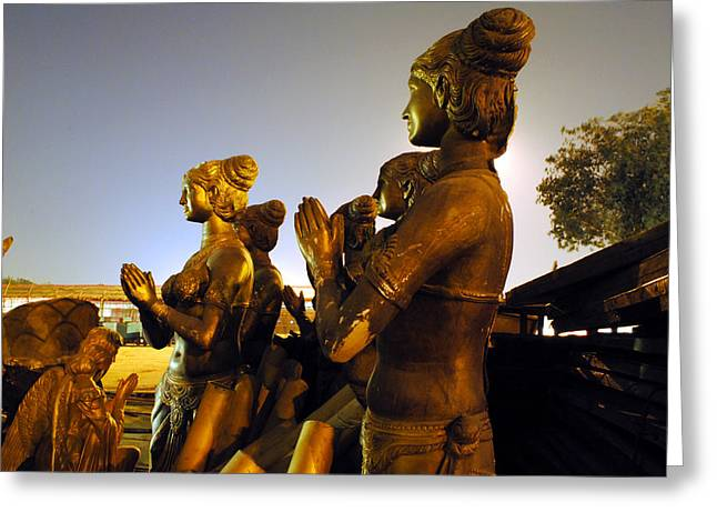 Sculpture Of Women Greeting Card by Sumit Mehndiratta