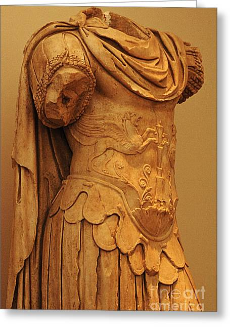 Greek Sculpture Greeting Cards - Sculpture Olympia 2 Greeting Card by Bob Christopher