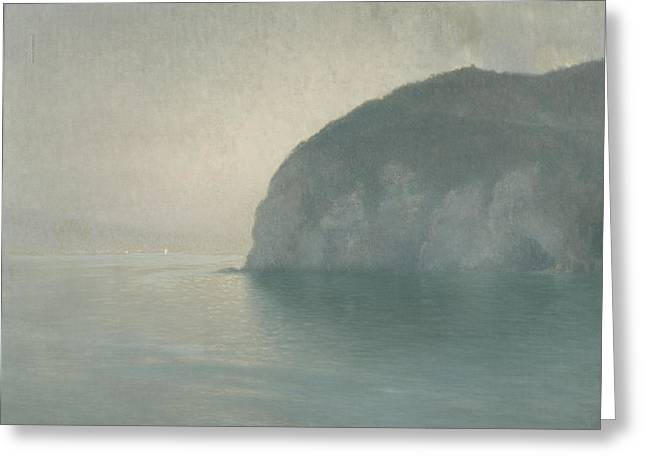 Mist Paintings Greeting Cards - Scutolo Greeting Card by Henry Brokman-Knudsen