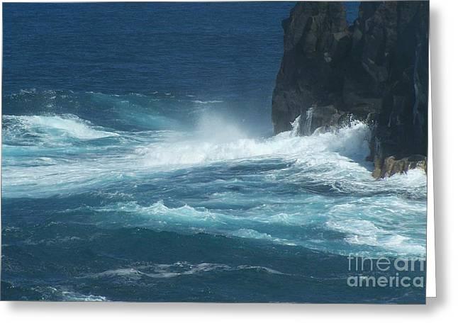 La Vague Greeting Cards - Sea - Mer - Ile De La Reunion Greeting Card by Francoise Leandre