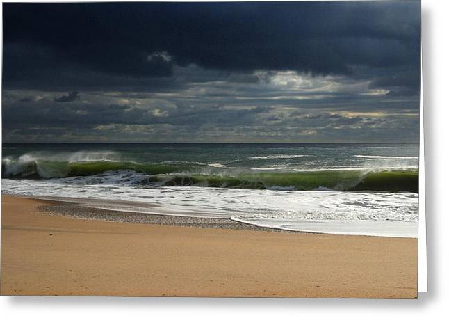 Point Pleasant Greeting Cards - Sea And Sky - Jersey Shore Greeting Card by Angie Tirado